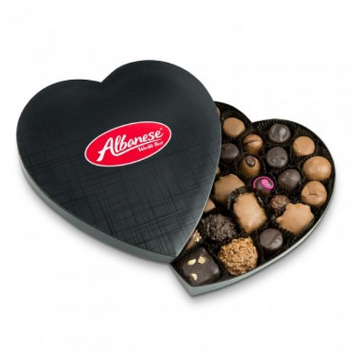 Heart Box (Black)  - 1lb. Assorted Heart Box