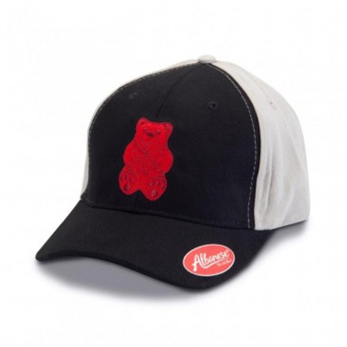 Black and Grey Hat with Red Bear