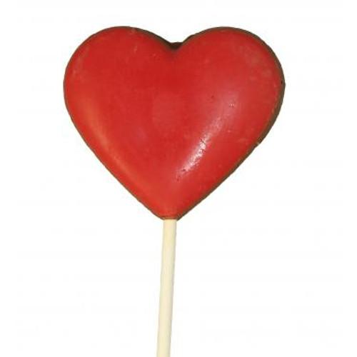Milk Chocolate 3oz Heart Sucker