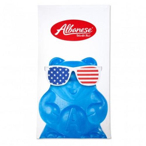 Patriotic Gummi Bear Beach Towel Blue  - Blue Patriotic Bear Beach Towel