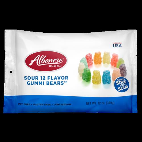Sour 12 Flavor Gummi Bears® - 12 oz Shareable bags