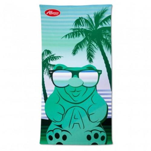 Tropical Gummi Bear Beach Towel - Green  - Green Bear Beach Towel