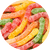 Large Sour Assorted Fruit Gummi Worms