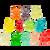 12 Flavor Gummi Bear Cubs™ - 5 lb Bulk Package