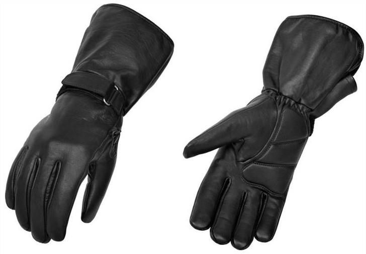 True Element Mens Premium All-Weather Motorcycle Gauntlet Glove (Black, Sizes S-2XL)
