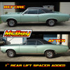 """MP1602- 1"""" Rear Coil Spring Spacer Lift Kit Installed on a GTO"""