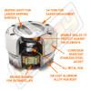 Mile Marker Chrome Manual Lockout 4X4 Hub Cutaway