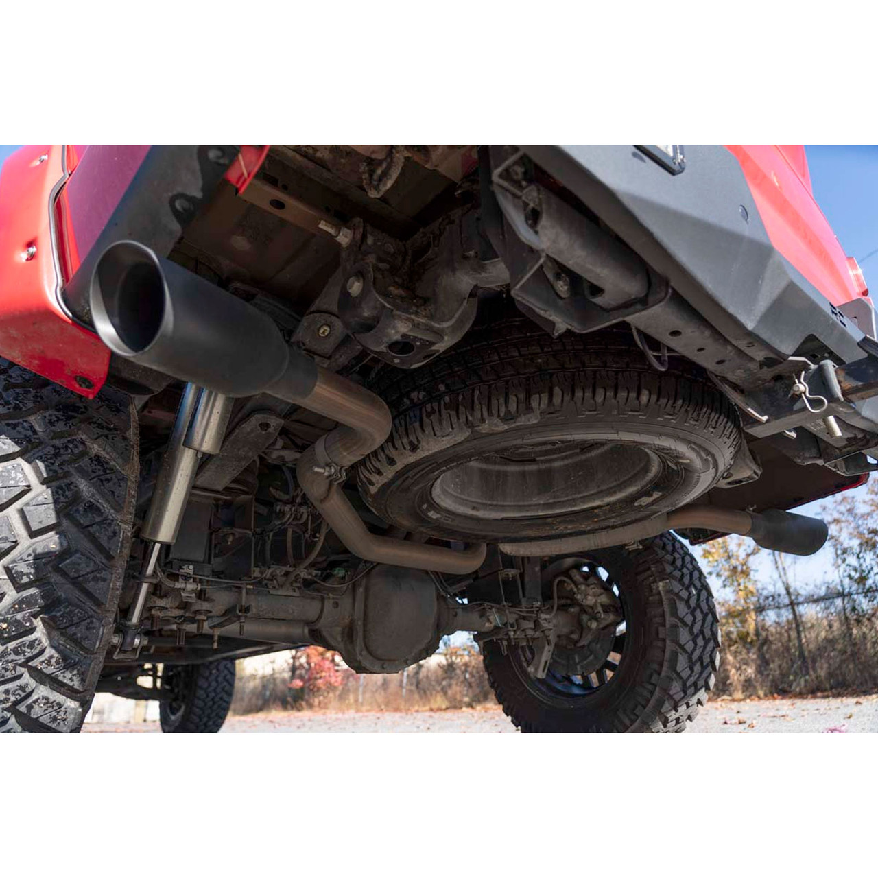 2015-2020 Ford F-150 Dual Cat Back Exhaust System with Black Tips