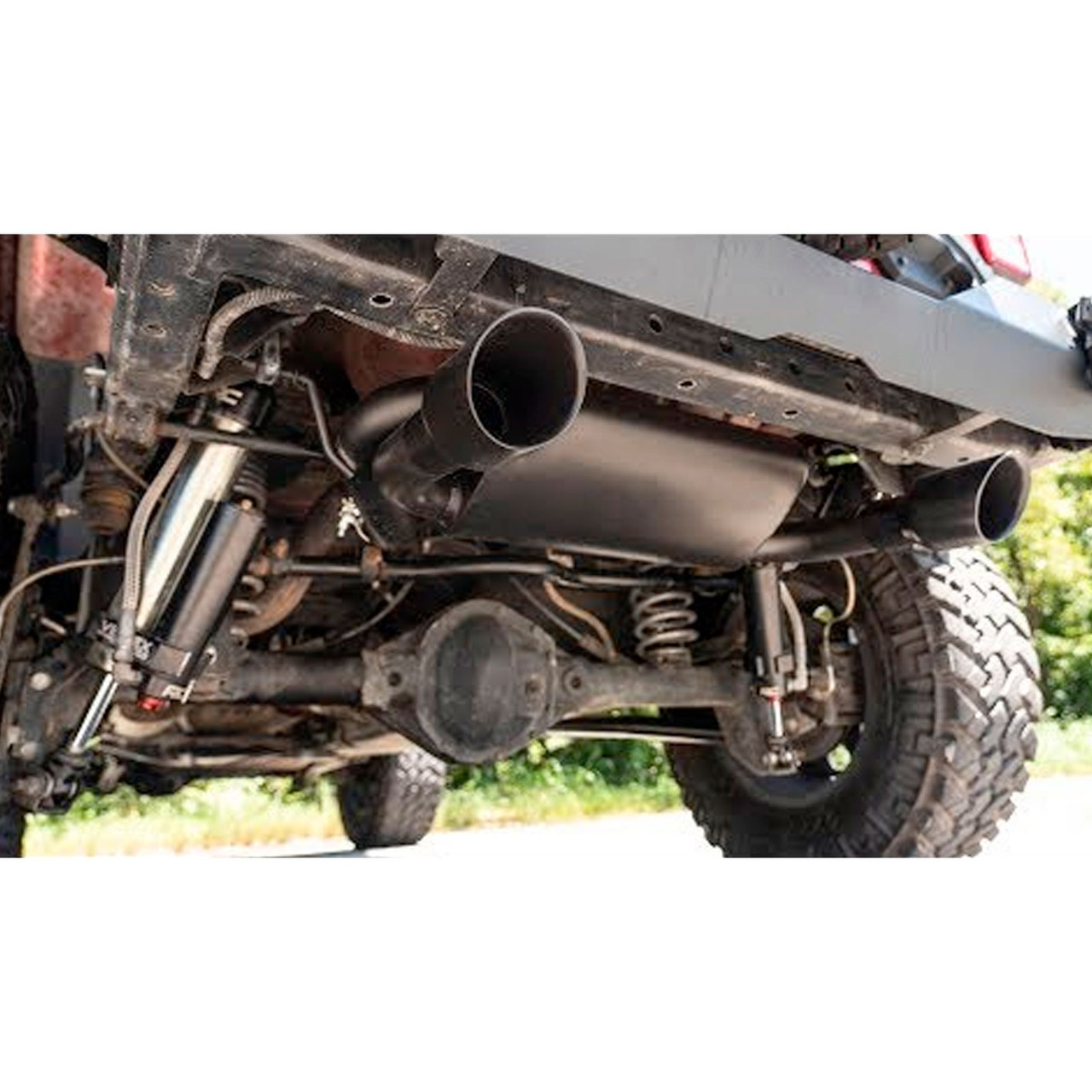 2007-2018 Jeep Wrangler JK Dual Outlet Black Stainless Steel Performance Exhaust System