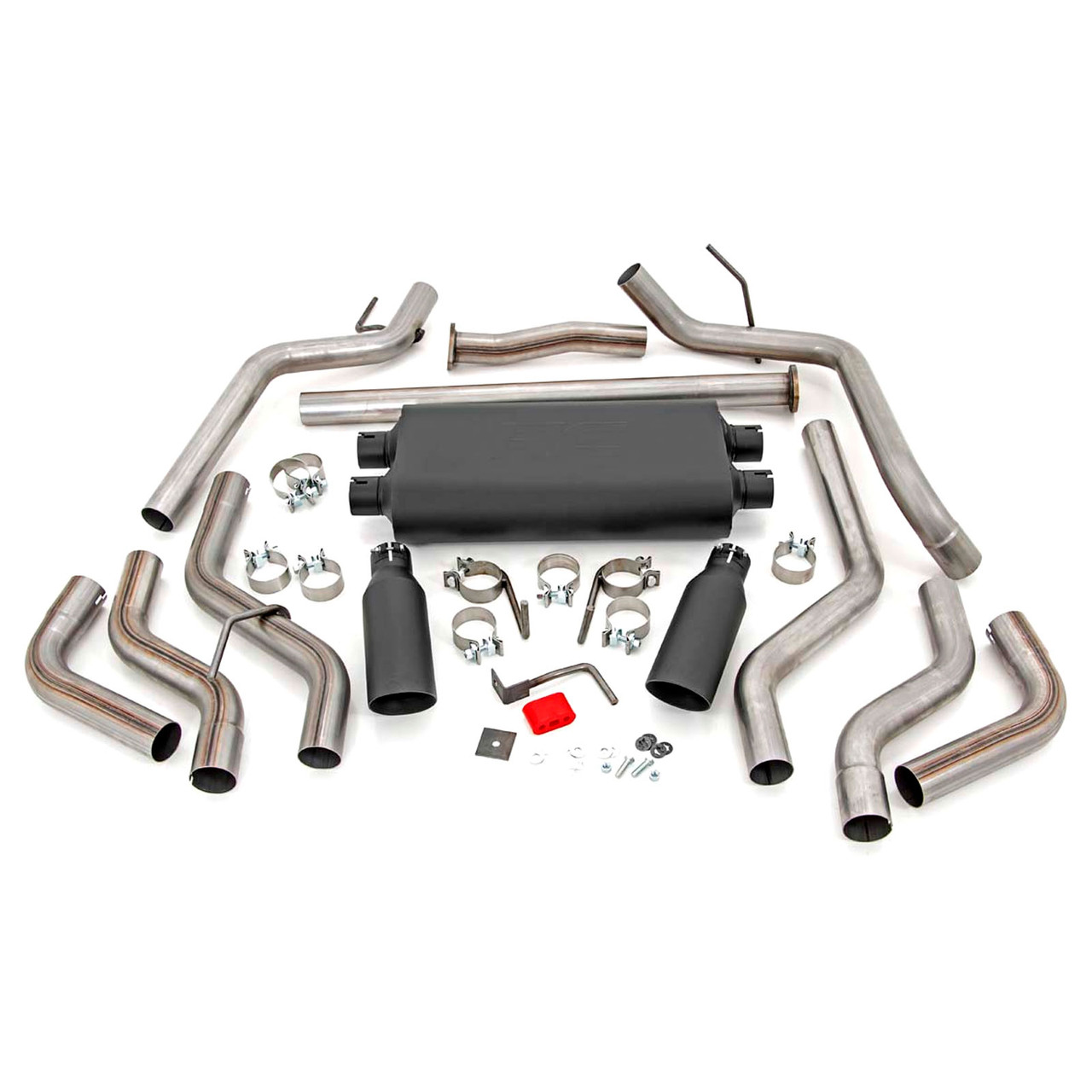 2009-2020 Toyota Tundra V8 Dual Cat Back Exhaust System with Black Tips