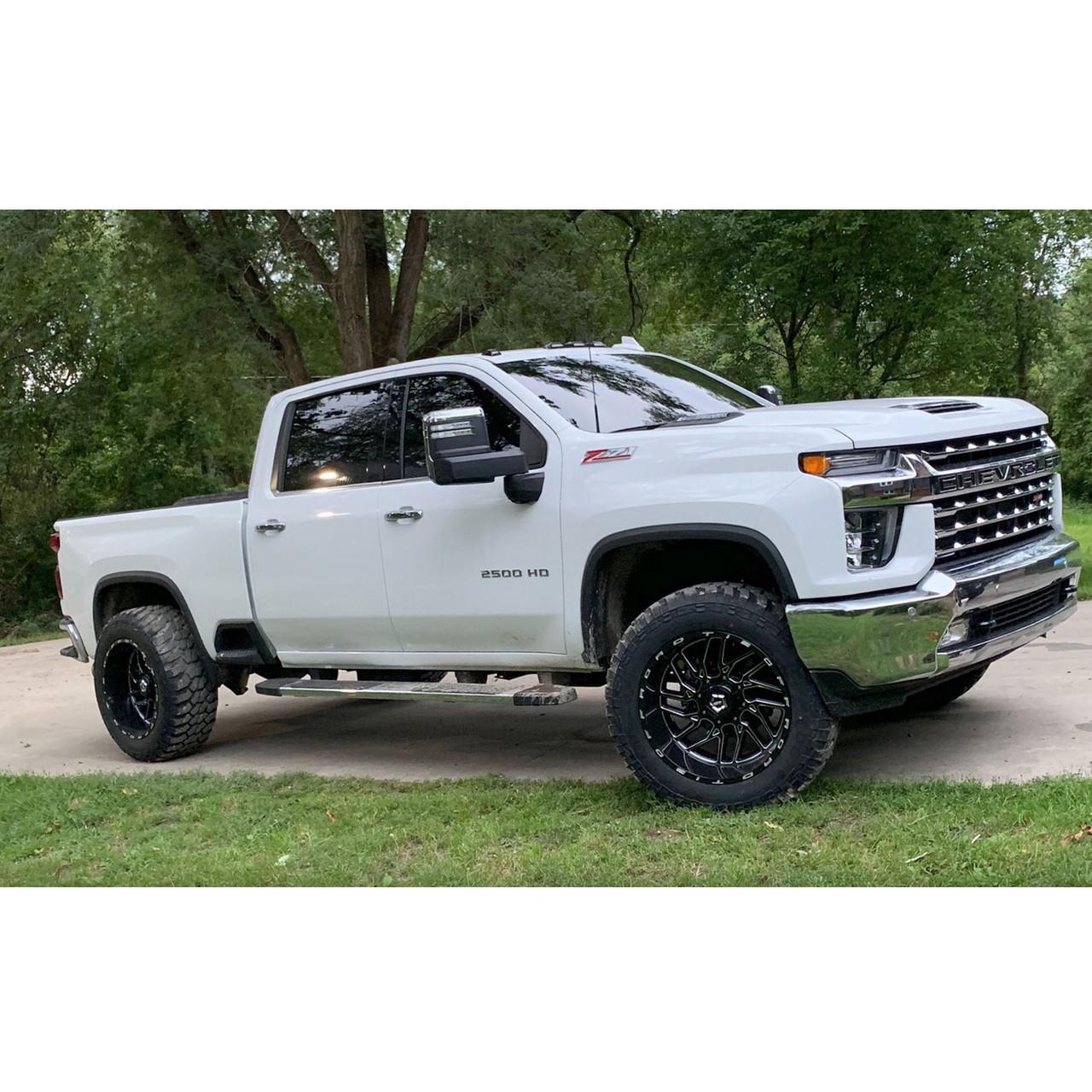 "SMX-MC9 - 2020-2021 Chevrolet Silverado & GMC Sierra 2500 3500 4X4 2.5"" Front Torsion Bar Key Lift Leveling Kit Installed"