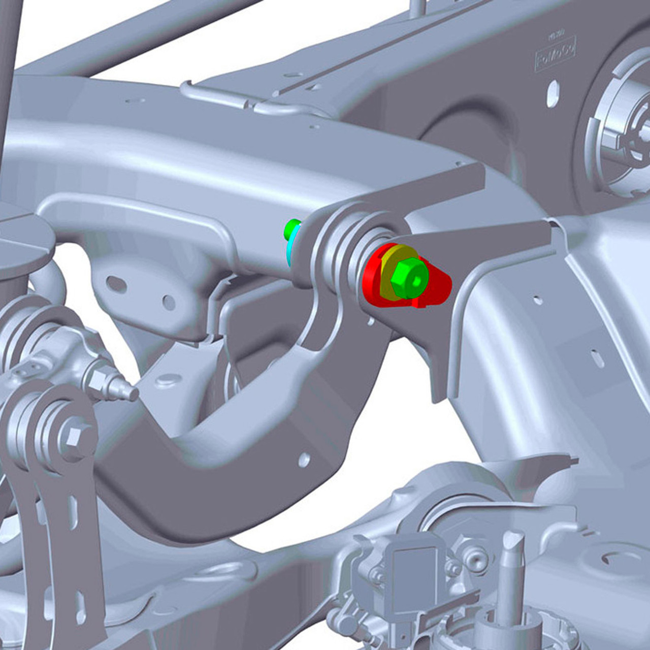 44-871 - 2020-2021 Ford Explorer SUV Rear Alignment Kit Illustration | McBay Performance