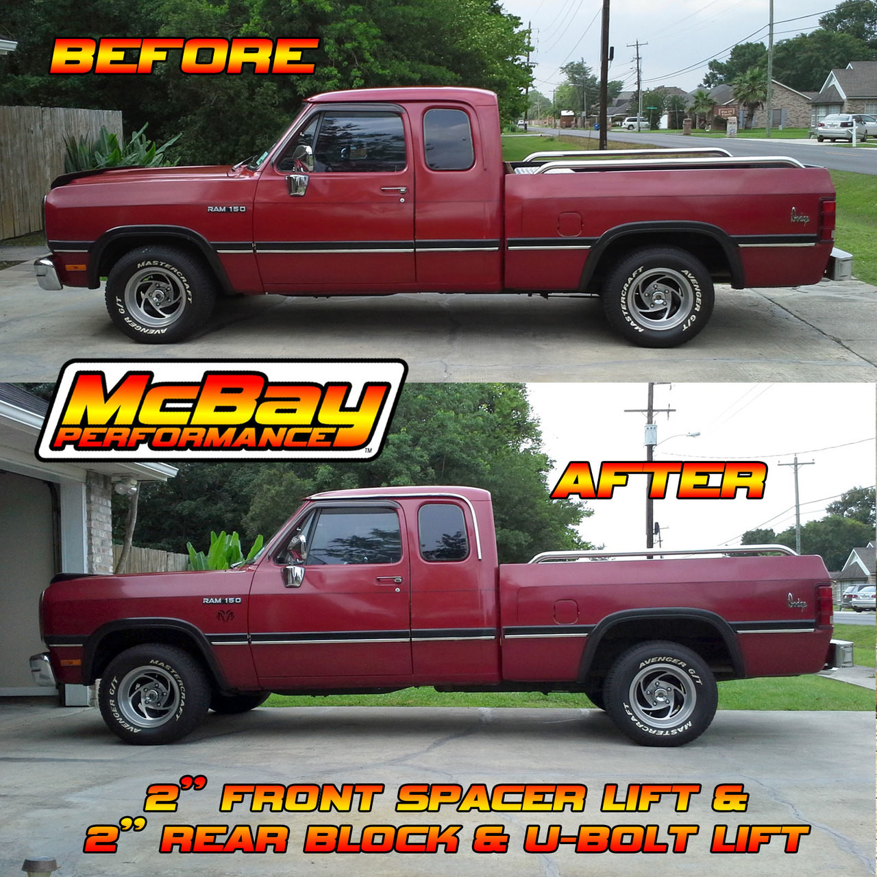"1905 - 1-7/8"" to 2-1/4"" Coil Spring Lift Installed on a Ram D150 2WD"
