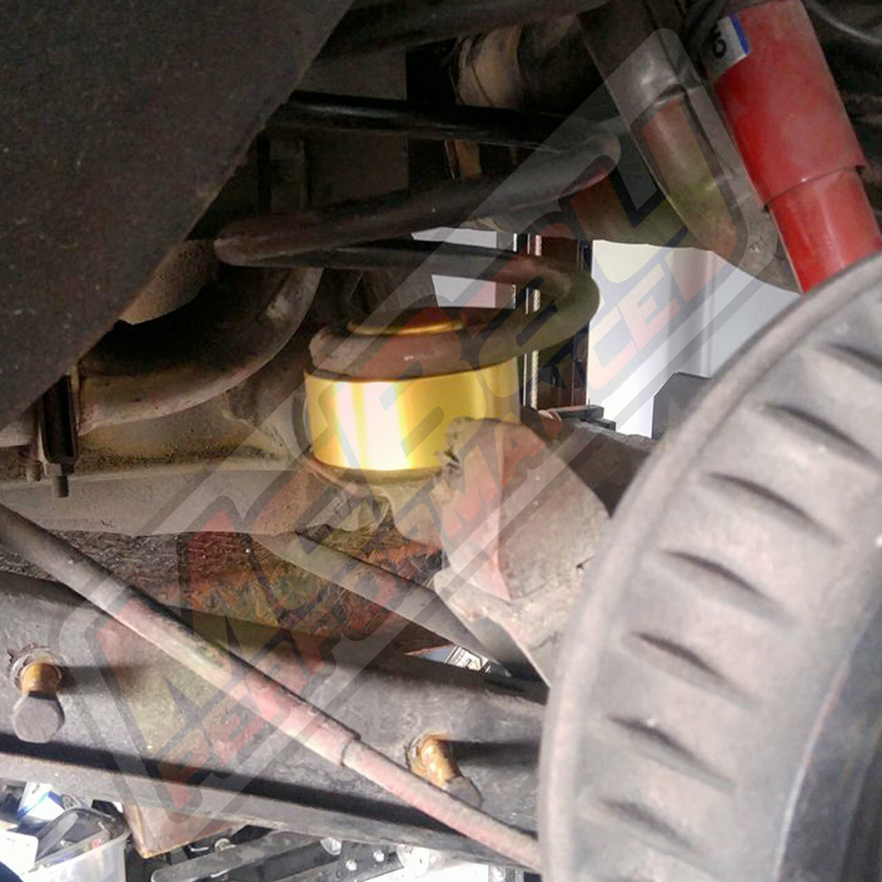 "MP1628 - 1.5"" Rear Coil Spring Spacer Lift Installed"