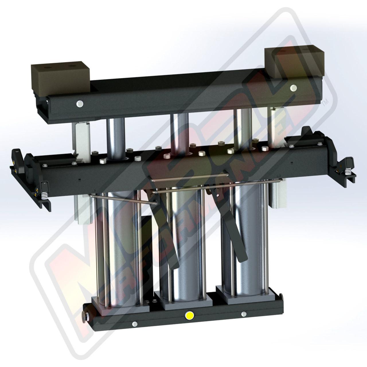 RJ-6000, RJ-7000, RJ-8000 - 6000 lb, 7000 lb, or 8000 lb Pneumatic Pivoting Rolling Bridge Jack for Post or Scissor Lifts | McBay Performance