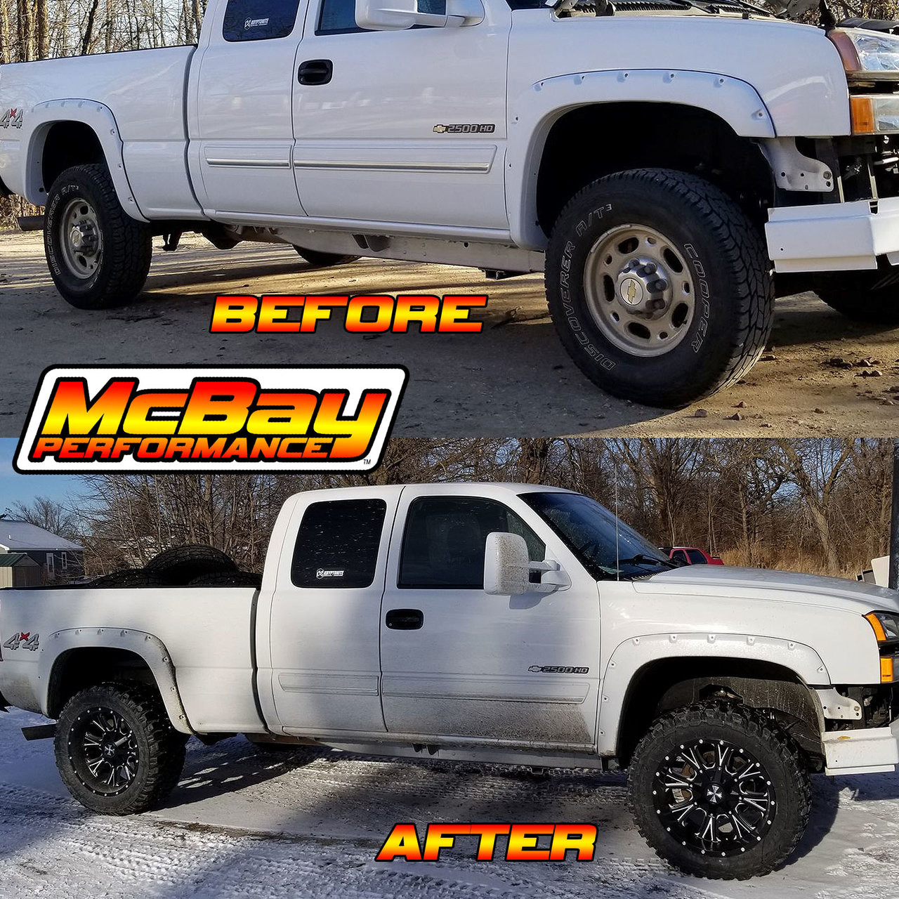 """SMX-MC2HD - 2.5"""" Front Torsion Bar Key Leveling Kit Installed on a Chevy 2500HD"""