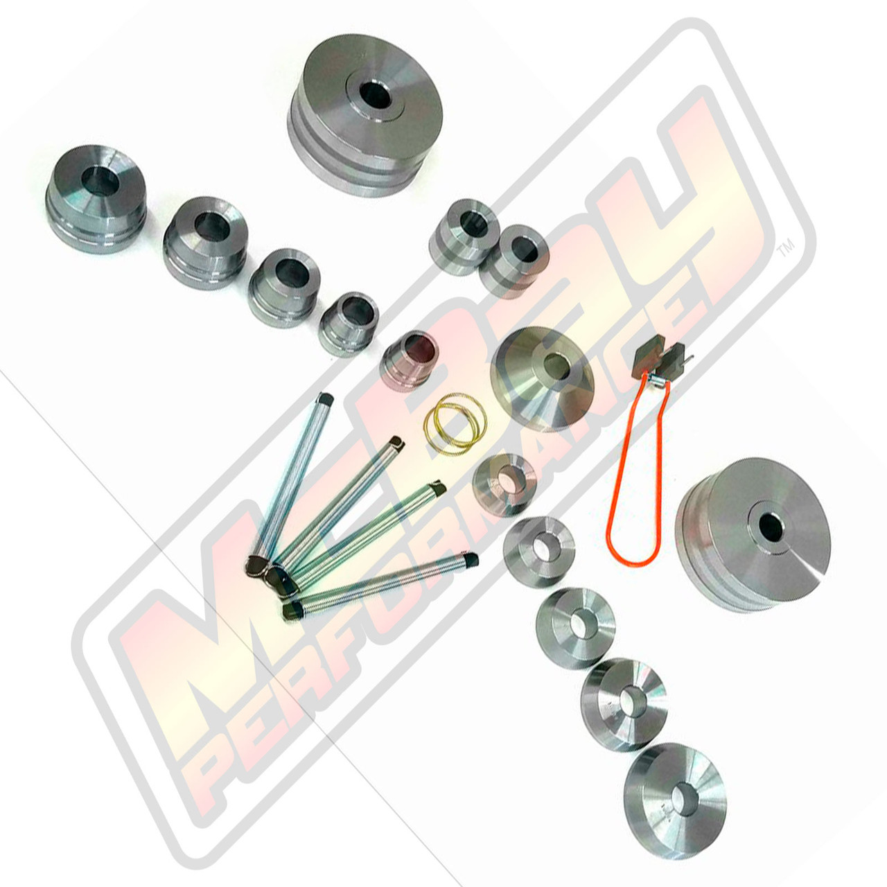"10007 - 18 Piece Gold Brake Lathe Cone & Adapter Set - 1"" Arbor | McBay Performance"