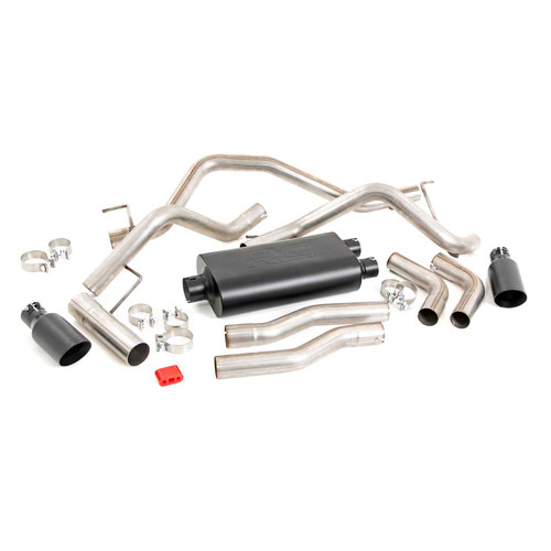 2009-2019 Dodge Ram 1500 4.7L & 5.7L Dual Cat Back Exhaust System with Black Tips