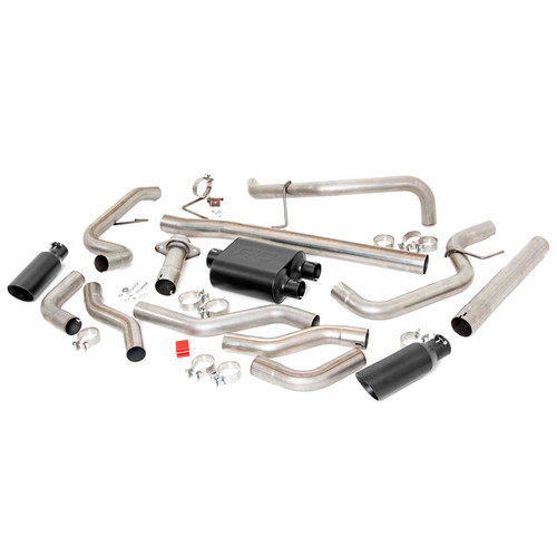 2009-2014 Ford F-150 V8 Dual Cat Back Exhaust System with Black Tips