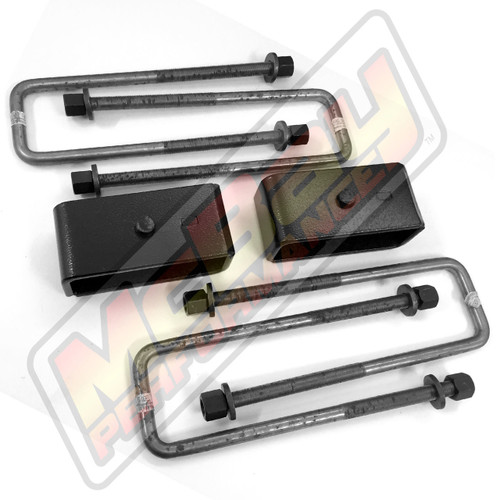 "MP-D2006 / MP-D2007 - 2"" Rear Block & U-Bolt Kit for Dodge D100 / D150 & Ramcharger 2WD"
