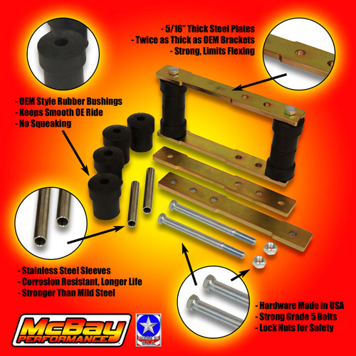 SK-5001 Rear Shackle Lift Kit Features