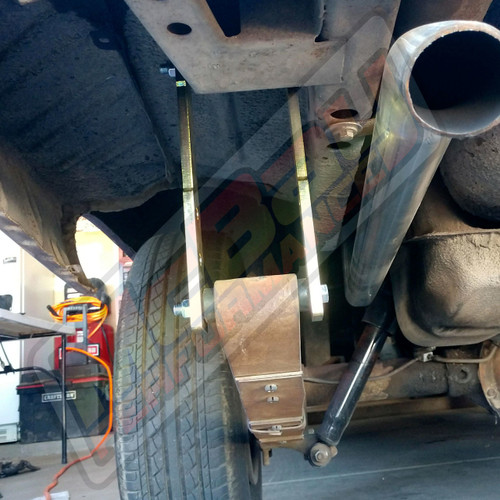 """SK-5005 - 1"""" to 4"""" Rear Shackle Lift Kit Installed"""