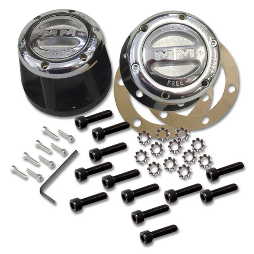 Mile Marker 435 - 4X4 Chrome Manual Lockout Hub Set For Nissan Pickups | McBay Performance