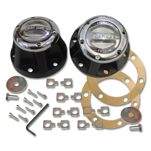 Mile Marker 466 - 4X4 Chrome Manual Lockout Hub Set For Toyota Vehicles | McBay Performance