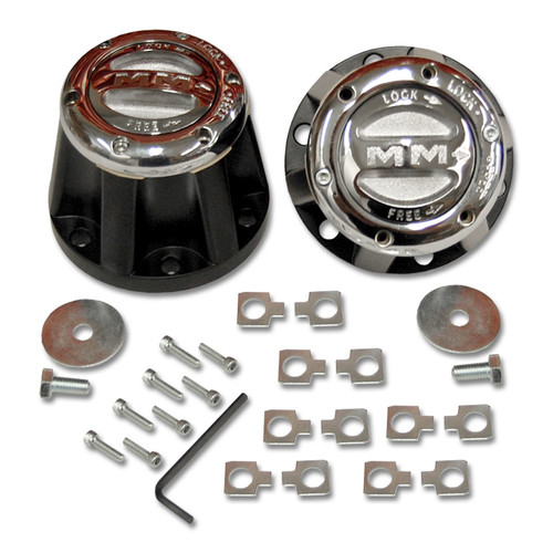 Mile Marker 490 - 4X4 Chrome Manual Lockout Hub Set For Toyota | McBay Performance