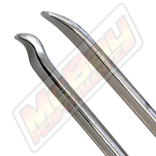 "18135 - 20"" Chrome Bead Lifting Pry Bar Tool Spoon Ends"