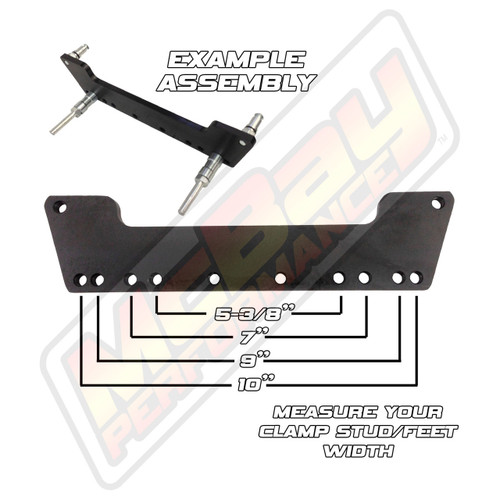 WC652-4 - John Bean FMC Aligner 4 Claw Feet Wheel Clamp Adaptor Extension Set Installation Dimensions