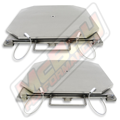 89700 - Wheeltronics Stainless Steel Alignment Turnplate Turntable Set   McBay Performance
