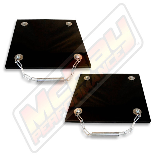 20-407GP - Economy Portable Alignment Rack Rear Grease Slip Plate Set | McBay Performance