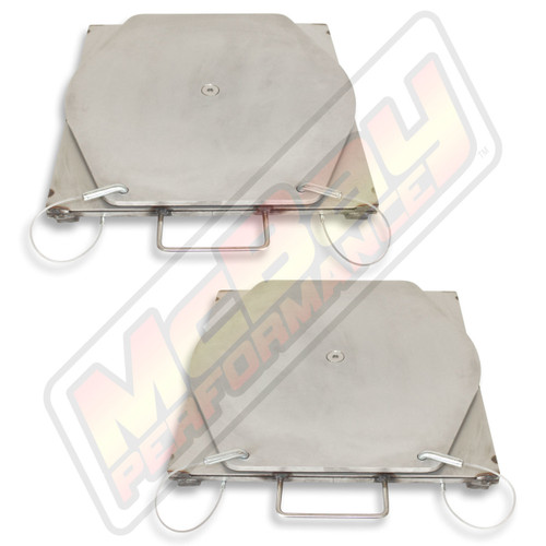 25-130 - Medium Duty Truck Stainless Steel Alignment Turnplate Turntable Set | McBay Performance