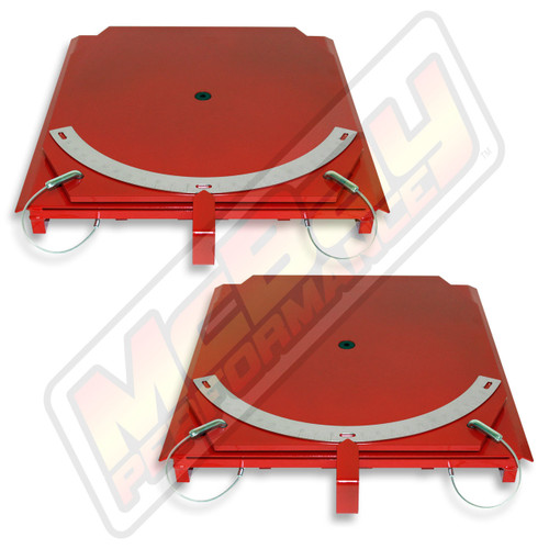 25-24-P - Heavy Duty Truck Standard Steel Alignment Turn Table Set with Pointers | McBay Performance