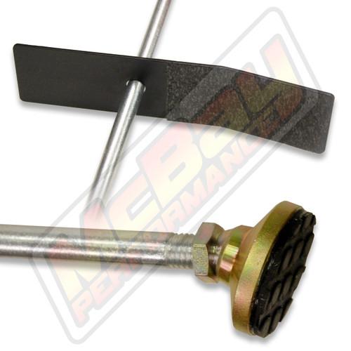 DB-Q - Professional Heavy Duty Wheel Alignment Brake Pedal Depressor End View