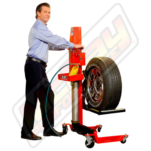 LM-200 - Lift-Mate Air-Operated, 200 lb Capacity, Mobile Tire & Wheel Lift Machine in Action