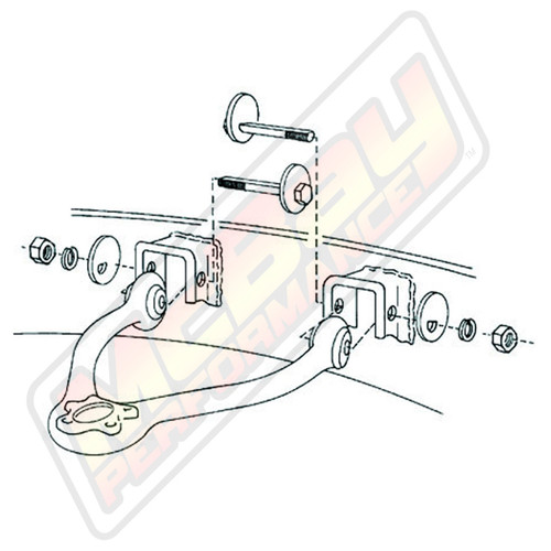 41-8250 - 1987-2005 Chevy & GMC Truck or Van Caster Camber Alignment Cam Bolt Kit Diagram