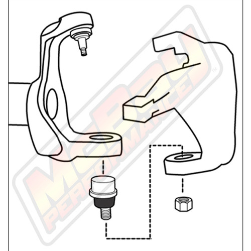 44-2490 - 1984-2018 Jeep Wrangler Cherokee Comanche Adjustable Camber Caster Lower Ball Joint Installation Diagram