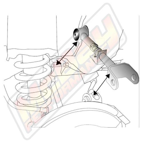 46-2185 - 2002-2006 Honda CR-V & 2003-2011 Element Rear Alignment Adjustable Camber Arm Installation Diagram