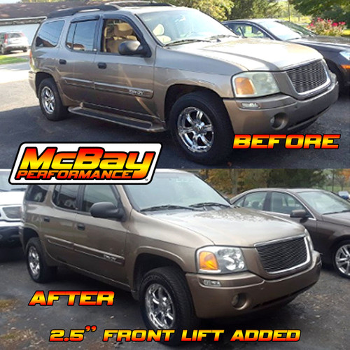 "SMX-250XL 2.5"" Front Leveling Kit Installed on a GMC Envoy"
