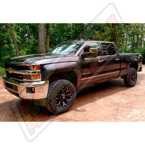 "SMX-MC5 - 2015-2016 Chevrolet Silverado & GMC Sierra 2500 3500 4X4 2.5"" Front Torsion Bar Key Lift Leveling Kit Installed"