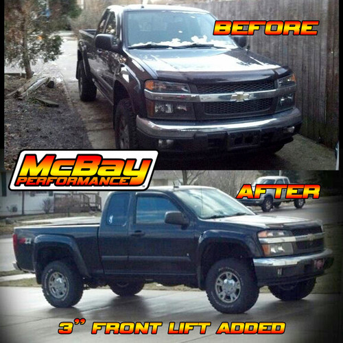 "SMX-MCJRC - 3"" Front Torsion Bar Leveling Kit Installed on a Chevrolet Colorado"