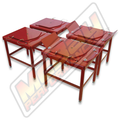 """DB24-MD - 24"""" Portable Medium Duty Alignment Stand Set with Built-In Turn Plates & Slip Plates   McBay Performance"""
