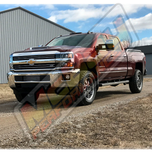"SMX-MC7 - 2017-2018 Chevrolet Silverado & GMC Sierra 2500 3500 4X4 2.5"" Front Torsion Bar Key Lift Leveling Kit Installed"