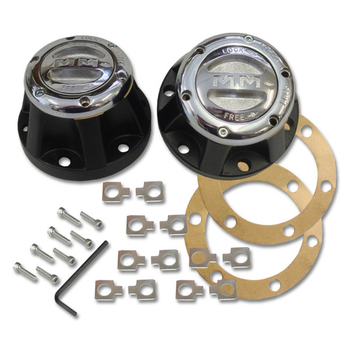 Mile Marker 481 - Chrome Manual Lockout 4X4 Hubs For 1959-1973 Willy's & Jeep CJ's | McBay Performance