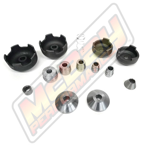 "10006 - 14 Piece Bronze Brake Lathe Cone & Adapter Set - 1"" Arbor 