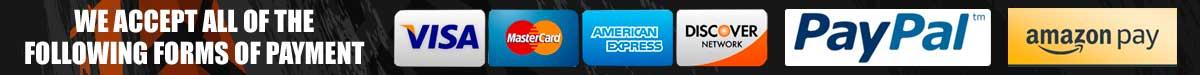 McBay Performance Accepts PayPal, Mastercard, Visa Discover, American Express and Amazon Pay