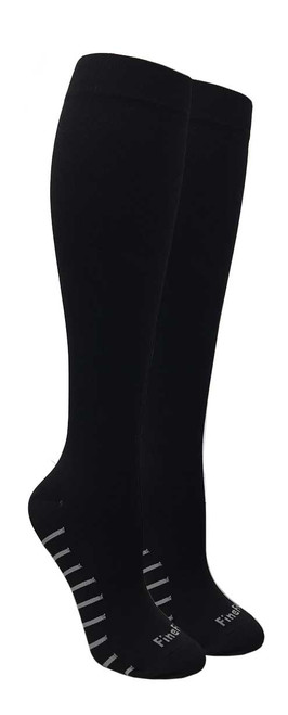 Compression Socks - Black (Size: 9-11, 10-13) - 1 dozen
