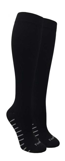 Compression Socks - Black (Size: 9-11, 10-13) - 1 dozen